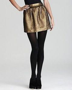 Gold Metallic Sparkle Skirt